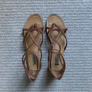Steve Madden brown woven sandals